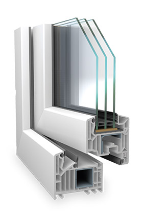 VEKA 82 MD műanyag ablak sarokmetszet Kisbárkány