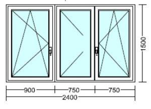 240 x 150 sorolt ablak
